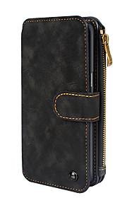 Custodia Per Samsung Galaxy S8 Plus S8 Porta-carte di credito A portafoglio Con chiusura magnetica A calamita Integrale Tinta unica
