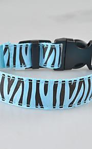 Hond Kraag LED verlichting Flits Zebra Textiel Binnenwerk Geel Rood Groen Blauw Roze