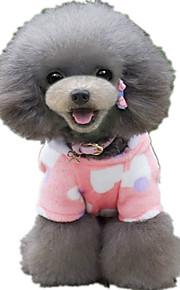 Hond Jumpsuits Hondenkleding Hart Roze Luipaard Pluche stof Kostuum Voor huisdieren Casual / Dagelijks