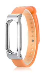 caixa de metal de borracha para xiaomi miband 2-orange