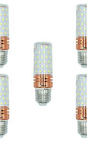 5pcs 16W E27 LED-kornpærer T 84 leds SMD 2835 Varm hvit Hvit Dual Light Source Color 1300lm 3000-3500  6000-6500  3000-6500K AC 220-240V
