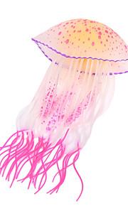 Aquarium Decoration Jellyfish Luminous Silicone