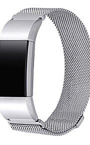 banda de metal para fitbit carga 2jewelry acessórios pulseira com fecho magnético-prata