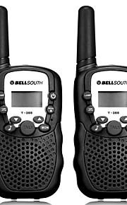T-388 Walkie Talkie Handheld Anolog VOX CTCSS/CDCSS 3KM-5KM 3KM-5KM 22CH 0.5W Walkie Talkie Two Way Radio