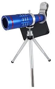 O telescópio de telefoto móvel zoom hd 18x orsda® atualizou kits de lente de câmera clip-on com tripé para smartphones (azul)