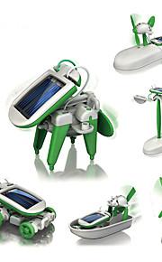 diy kit robô brinquedos avião moinho de vento navio robô com energia solar peças para crianças
