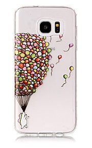 For Case Cover Transparent Pattern Back Cover Case Balloon Soft TPU for Samsung Galaxy S8 Plus S8 S7 edge S7 S6 edge plus S6 edge S6 S6
