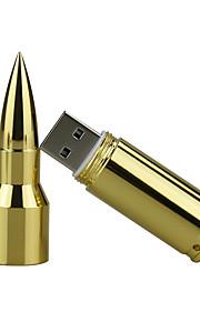8GB metall bullet usb 2,0 usb flash drive minne minne pendrive u disk flash drive silver / guld