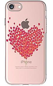 케이스 제품 Apple iPhone X iPhone 8 iPhone 8 Plus 울트라 씬 투명 패턴 뒷면 커버 심장 소프트 TPU 용 iPhone X iPhone 8 Plus iPhone 8 아이폰 7 플러스 아이폰 (7) iPhone 6s