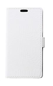 Etui Til LG K8 (2017) K10 (2017) Pung Kortholder Med stativ Flip Heldækkende Helfarve Hårdt Kunstlæder for LG K10 LG K10 (2017) LG K8 LG