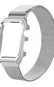 pulseira de substituição de aço inoxidável iwatch banda magnética com capa metálica para relógio de maçã série série 2 1-42mm (prata)