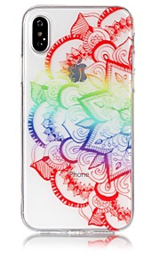 Custodia Per Apple iPhone X iPhone 8 Ultra sottile Transparente Decorazioni in rilievo Fantasia/disegno Custodia posteriore Fiori Mandala