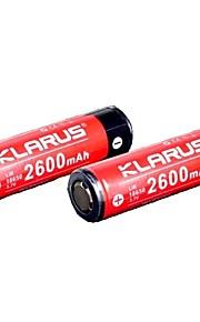 KLARUS 18650 2600mAh batteri Bärbar Professionell Enkel att bära Hög kvalitet Lättviktig för 18650 Li-jon