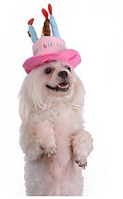 Katze Hund Hüte, Kappen & Bandanas Hundekleidung neu warm halten Romantisch bezaubernd Kopfwärmer Buchstabe & Nummer Blau Rosa Kostüm Für