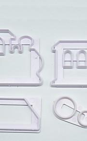 Pie Werkzeuge Neuheit Plätzchen Kunststoff Einfache