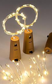 3 stk 15-ledet 0,75m kobbertrådsnørlampe med flaskepropp for glass håndverk flaske fe Valentiner bryllup dekorasjon lampe fest