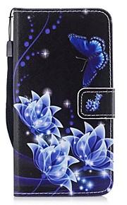 Кейс для Назначение SSamsung Galaxy J3 (2017) Бумажник для карт Кошелек со стендом Флип Чехол Бабочка Твердый Искусственная кожа для J3