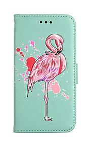 fodral Till Samsung Galaxy S8 Plus S8 Plånbok Korthållare med stativ Lucka Mönster Heltäckande Flamingo Hårt Konstläder för S8 S8 Plus S7