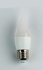 1pc 4W E27 LED-globepærer C35 6 leds SMD 3528 Varm hvit 300lm 3000K AC 110-240V