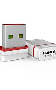 comfast cf-wu815n 150 mbps mini controlador inalámbrico usb adaptador gratuito instale automáticamente el receptor wifi