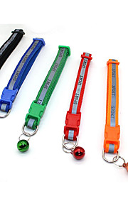 Collar Reflective Band Portable Breathable Foldable With Bell Solid Lolita Nylon Black Red Green Blue