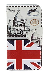 Case For Apple Ipod Touch5 / 6 Case Cover Card Holder Wallet with Stand Flip Pattern Full Body Case  British Architecture Hard PU Leather