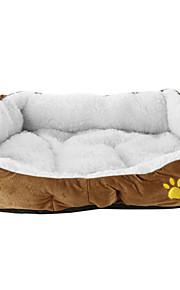 Кошка Собака Кровати Животные Коврики и подушки Однотонный Мягкий На каждый день Оранжевый Желтый Кофейный Розовый Синий Для домашних