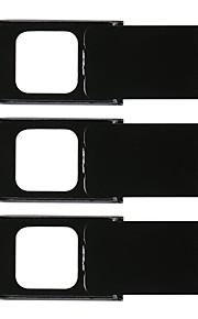 3pcs webcam slider camera lens cover proteção de privacidade para telefone / computador