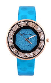 Women's Casual Watch Fashion Watch Wrist watch Chinese Quartz Chronograph Leather Band Casual Elegant Halloween Christmas Black White