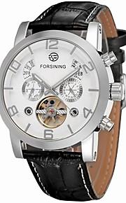 FORSINING Homens Relógio de Moda Relógio Elegante Relógio de Pulso Automático - da corda automáticamente Calendário Gravação Oca Couro