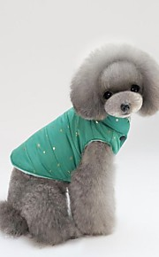 חתול כלב מעילים וסט בגדים עמידים לקור בגדים לכלבים כותנה קיץ/אביב חורף יום יומי\קז'ואל שמלה הניתנת להמרה Keep Warm מקסים דו צדדי חג ליל
