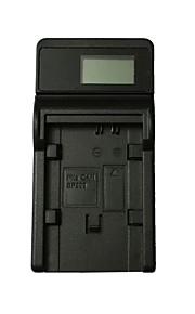 Ismartdigi BP808 LCD USB Camera Battery Charger for Canon BP808 BP809 BP819 Battery - Black