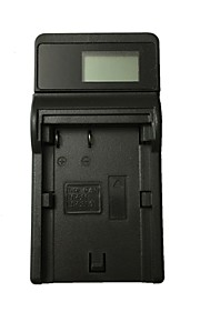 Ismartdigi BP511 LCD USB Camera Battery Charger for Canon BP511 BP-511 512 522 535 EOS 300D 10D 20D 30D 40D 50D EOS 5D - Black