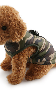 Dog Coat Vest Dog Clothes Camouflage Red Green Blue Pink Camouflage Color Cotton Costume For Pets Men's Women's Casual/Daily