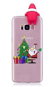 fodral Till Samsung Galaxy S8 Plus S8 Stötsäker Skal 3D-seriefigur Jul Mjukt TPU för S8 S8 Plus S7 edge S7