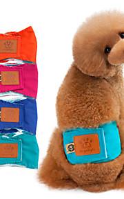 כלב מכנסיים תערובת כותנה חיתולים בגדים לכלבים כותנה ניתן לכיבוס חורף קיץ/אביב מאוורר היטב יום יומי\קז'ואל מוצק כתום ירוק כחול ורוד תחפושות
