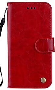 Etui Til Xiaomi Redmi Note 4X Redmi 4X Pung Kortholder Med stativ Flip Magnetisk Heldækkende Helfarve Hårdt Kunstlæder for Xiaomi Redmi