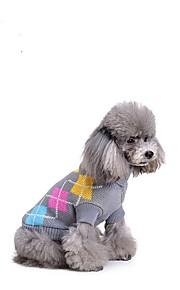 חתול כלב סוודרים בגדים לכלבים בד כותנה למטה חורף קיץ/אביב מסוגנן Polka Dot אפור תחפושות עבור חיות מחמד
