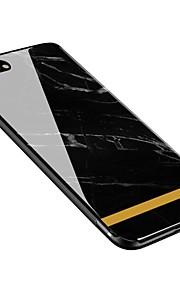 Capinha Para Apple iPhone X iPhone 8 Plus Estampada Capa Traseira Mármore Macia Vidro Temperado para iPhone X iPhone 8 Plus iPhone 8