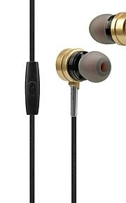 x31 dans l'oreille écouteurs filaires dynamique en plastique sport&écouteurs de fitness isolant le bruit avec micro-casque