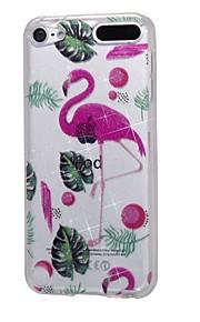caso para ipod touch5 / 6 estojo de capa de alta penetração de pó e papel de parede flamingo soft tpu