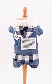 Dog Jumpsuit Dog Clothes Casual/Daily Plaid/Check Blue Costume For Pets