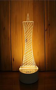 1 סט של 3D מצב רוח לילה יד קלה להרגיש dimmable USB מופעל מתנה מנורה מגדלור
