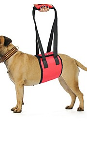 Dog Harness Safety Solid Polyester Blue Red Black