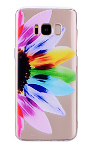 Custodia Per Samsung Galaxy S8 Plus S8 IMD Fantasia/disegno Per retro Transparente Fiore decorativo Morbido TPU per S8 Plus S8 S7 edge S7