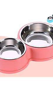 Cachorro Tigelas e Bebedouros Animais de Estimação Tigelas e alimentação de animais Durável Verde Azul Rosa claro