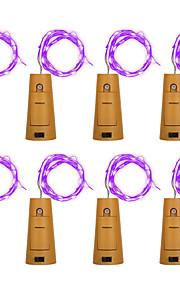 8 stk brelong 8led vinflaske kobber kobber til jul bryllup fest dekorasjoner