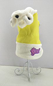 Cat Dog Jumpsuit Dog Clothes Casual/Daily Keep Warm Animal Yellow Costume For Pets
