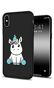 Custodia Per Apple iPhone X iPhone 8 Plus Fantasia/disegno Custodia posteriore Unicorno Animali Cartoni animati Morbido TPU per iPhone X