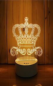 1 sæt 3d stemning nat lys hånd følelse dæmpbar usb powered gave lampe krone